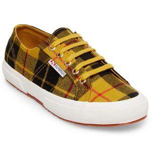 Superga 2750 TartanW Yellow Plaid Sneaker Shoes